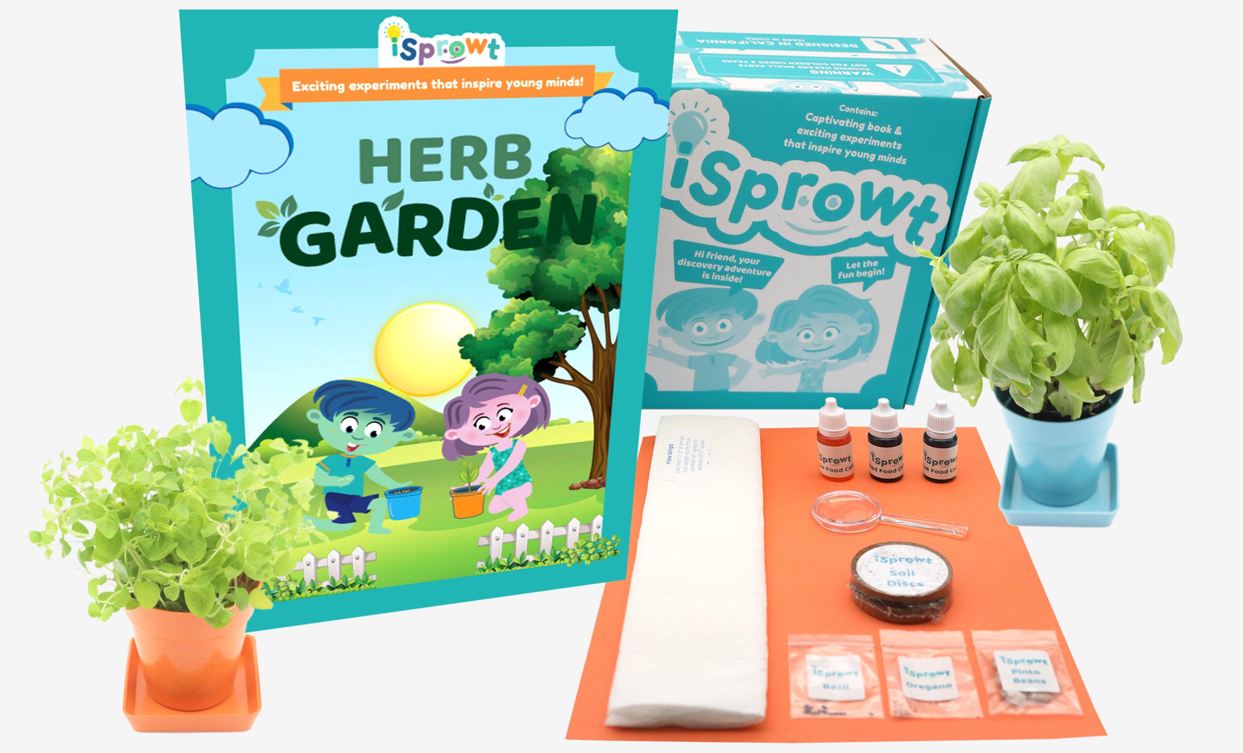 herb garden science kits for kids